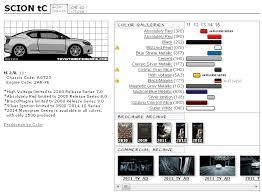 2012 Lexus Color Chart Scion Tc Touchup Paint Codes Image Galleries Brochure And