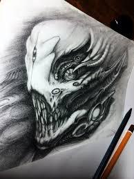 эскизы тату страшные эскизы татуировок животных все фото