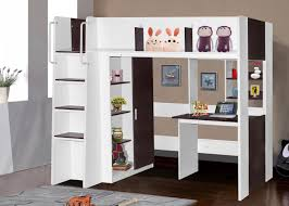 bedroom skyway twin loft with desk and storage tower in espresso workstation wood metal double