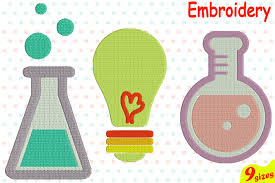 Science Embroidery Designs Science Designs For Embroidery Machine Instant Download