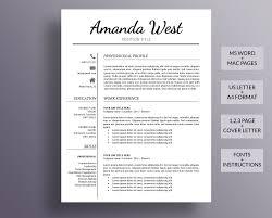 Modern Simple Resume Template Resume Template Modern Resume Template Professional Resume Simple