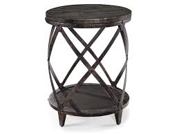 ford wooden and metal accent table with shelf