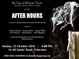 """The Choir of All Saints' Church, Princeton, presents """"After Hours"""" 