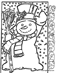 Small Picture Snowmen and Snowflakes Coloring Pages