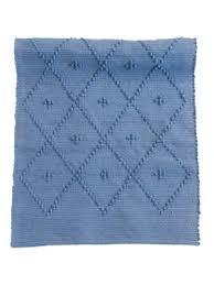 diamond jeans blue woven cotton floor mat small