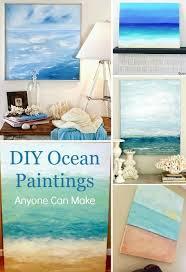 diy ocean painting tutorials paintings anyone can make