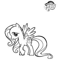 Kleurplaat My Little Pony Fluttershy Kleurplatennl