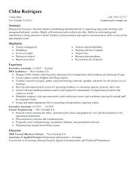 Administrative Assistant Summary Resumes Administration Assistant Resume Yuriewalter Me
