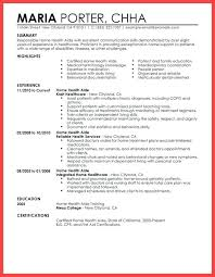 Resume For Healthcare Sample Home Health Aide Resume Foodcity Me