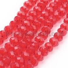 Wholesale <b>Handmade Glass</b> Beads, Faceted <b>Abacus</b>, Red, 8x6mm ...