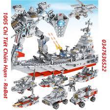 1005 CHI TIẾT-HÀNG CHUẨN] BỘ ĐỒ CHƠI XẾP HÌNH LEGO CHIẾN HẠM, OTO, ROBOT,  TÀU CHIẾN tốt giá rẻ
