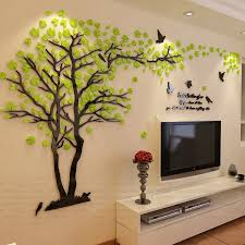 Design a space that's truly and uniquely yours! New Arrival Lovers Tree Acrylic Crystal Wall Stickers Diy Art Wall Decor Stickers Living Room Tv Sofa Wall 3d Decoration Belenydogen