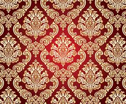Gold Damask Background Gold And Red Damask Background Vector Art Graphics