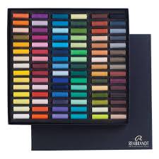 Rembrandt Pastel Color Chart Royal Talens Rembrandt Soft Pastel 90 Assorted 1 2 Stick Cardboard Box Set