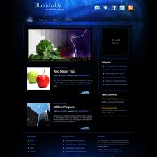 Free Website Templates Template 24 Blue Marble 15
