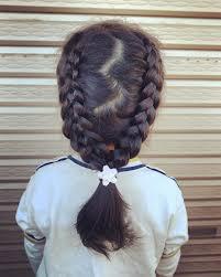 今日の髪型 Todayshairarrange 5つ編み込み裏編み込み 娘リクエスト