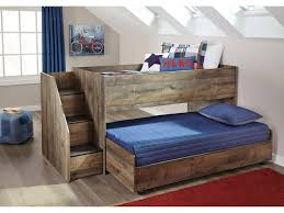 Loft Bedroom Furniture Signature Design By Ashley Trinell Loft Bed With Storage Stairs