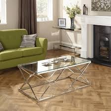 memphis grey glass coffee table with