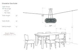 dining table chandelier height chandelier height above