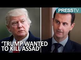 「trump ordered assassination of assad」の画像検索結果