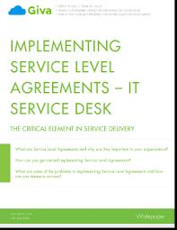 Sla Organisation Chart Implementing Service Level Agreements It Service Desk Giva