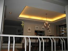 modern dining room with tray ceiling lighting also modern chandelier design  also small ceiing light also awesome glass cabinet