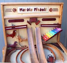 Wooden Games Plans Amazing Woodworking Plan For Building A Wood Marble Pinball Game Like Marble