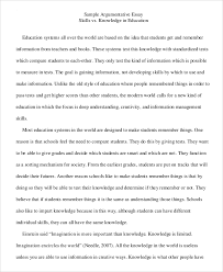 argumentative essay example    samples in pdf word sample argumentative essay example college