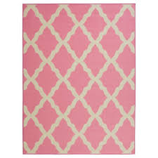 ottomanson glamour collection contemporary moroccan trellis design pink 5 ft x 7 ft area