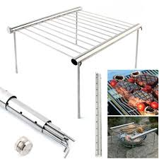 outdoor stainless steel barbecue support portable stove bbq rack household charcoal tool 0