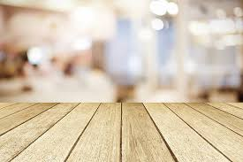 wood floor perspective. Perspective Wood Over Blurred Restaurant With Bokeh Background Floor