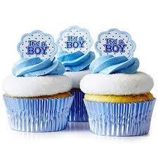 Amazoncom 24 Cakegirls Boy Baby Shower Cupcake Kit Its A Boy