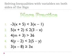 variables on both sides inequalities worksheet activities solving equations with worksheets multiple