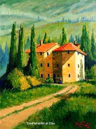 tuscany landscape paintings like this item tuscan landscape painters tuscany landscape paintings