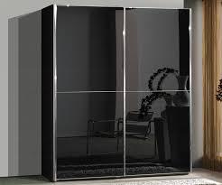 wiemann miami 2 black glass sliding door wardrobe h217cm