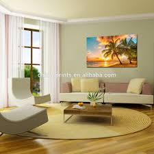 Modern Painting For Living Room Wholesale Canvas Print For Home Decoration Sunset Seascape Coco