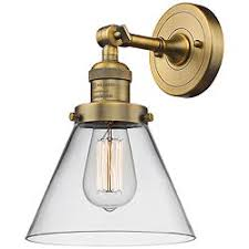 Brass bathroom light fixtures Ceiling Lights Large Cone 10 Nationonthetakecom Brass Antique Brass Bathroom Lighting Lamps Plus Open Box