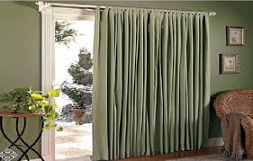 Image of: Luxurious Sliding Patio Door Curtains Ideas