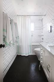 floor to ceiling subway tile bathroom. penny tile floors can create an eye-catching texture to spruce up even the simplest floor ceiling subway bathroom