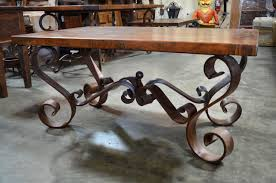 wood and wrought iron furniture. Full Size Of Attractive Wrought Iron Dining Table Base Inspirational In  Patio Design Inspiration With Glass Wood And Wrought Iron Furniture
