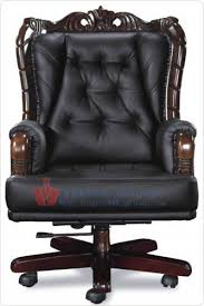 luxury office chairs leather. black leather lockable back solid wood frame cow luxury office chair executive chairboss chairs h
