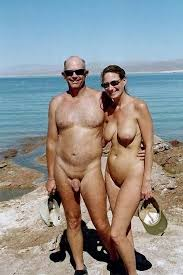 Nude beach photo couple