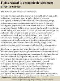 Development Resumes Top 8 Economic Development Director Resume Samples