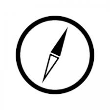 コンパス方位磁石のシルエット 無料のaipng白黒シルエットイラスト