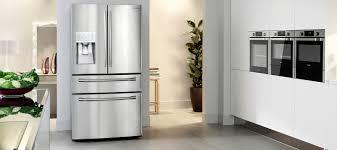 Samsung French Door - Modern Kitchen with Samsung French Door Fridge Silver
