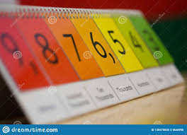 Number Flip Chart Numbered Flip Chart Education Tool Stock Image Image Of