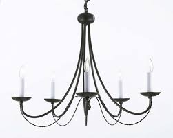 iron chandelier for better illumination and regal decor furniture and decors com
