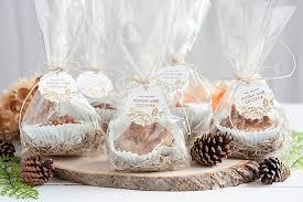 fall wedding favor caramel apple cookie cups