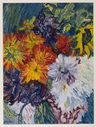 dahlias and sunflower