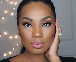 natural glam makeup look